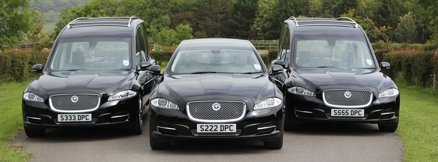 Jaguar hearse and limousine